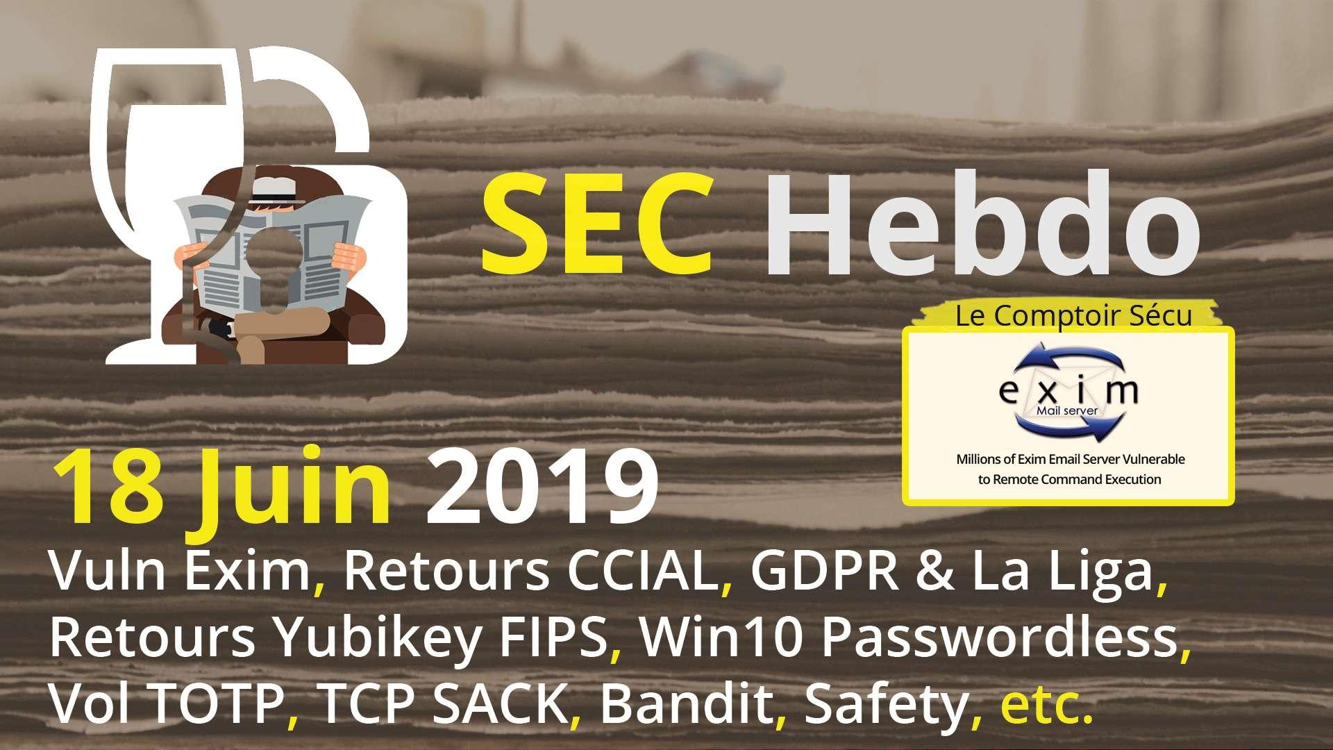 SECHebdo] 18 Juin 2019 : Le Comptoir Sécu